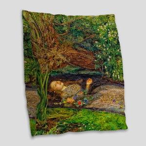Millais: Drowning Ophelia Burlap Throw Pillow