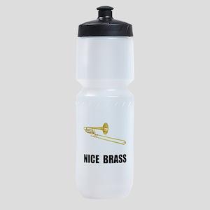 Nice Brass Trombone Sports Bottle