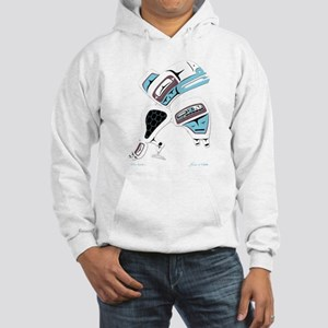 White Raven Hooded Sweatshirt