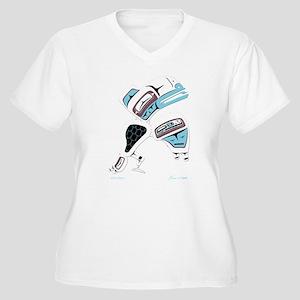 White Raven Women's Plus Size V-Neck T-Shirt