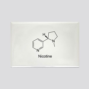 Nicotine - Smokers - Tobacco Rectangle Magnet