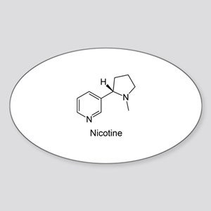 Nicotine - Smokers - Tobacco Oval Sticker