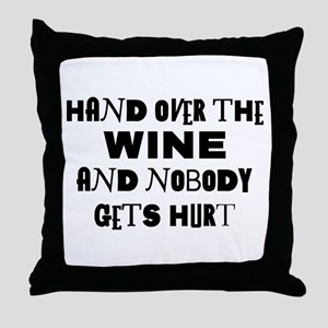 Wine Ransom Note Throw Pillow