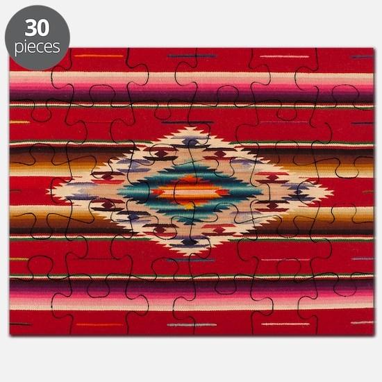 Southwest Red Serape Saltillo Puzzle