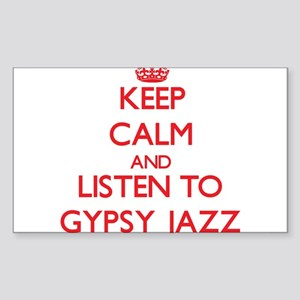 Keep calm and listen to GYPSY JAZZ Sticker