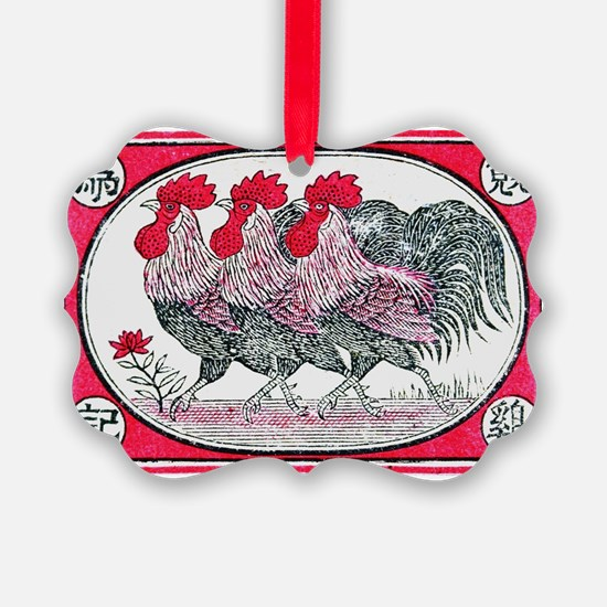 Cool Roosters Ornament