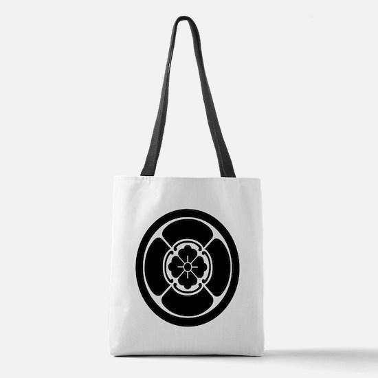 Square mokko in circle Polyester Tote Bag