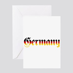Germany in Flag Colors Greeting Cards