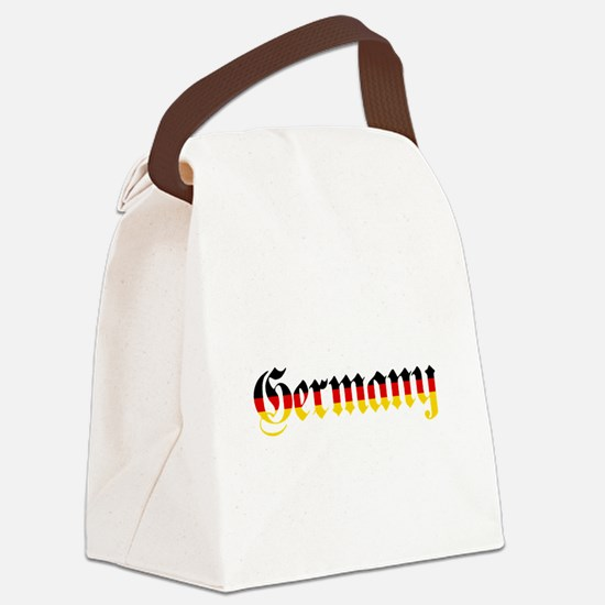Germany in Flag Colors Canvas Lunch Bag
