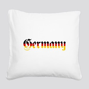 Germany in Flag Colors Square Canvas Pillow