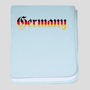 Germany in Flag Colors baby blanket