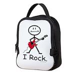 I Rock Stick Figure Neoprene Lunch Bag