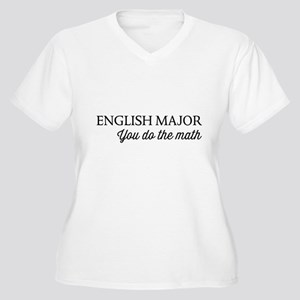 English major you do the math Plus Size T-Shirt