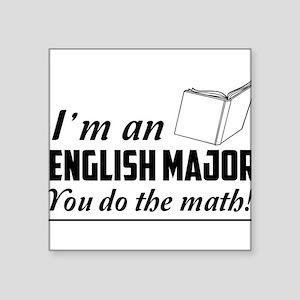 English major you do the math Sticker
