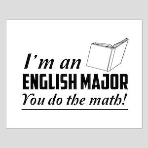 English major you do the math Posters