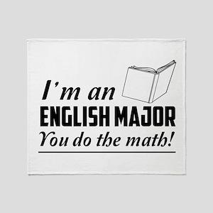 English major you do the math Throw Blanket