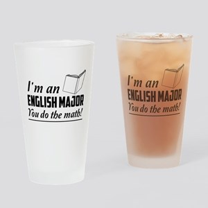 English major you do the math Drinking Glass