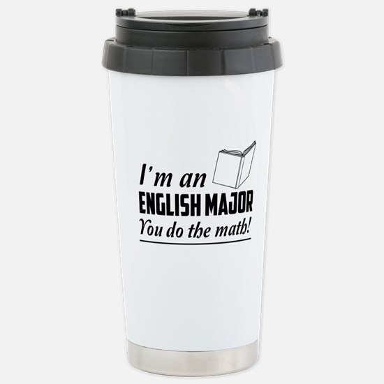English major you do the math Travel Mug