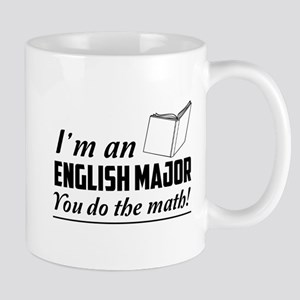 English major you do the math Mugs