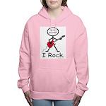 I Rock Stick Figure Women's Hooded Sweatshirt