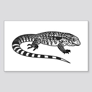 Black And White Tegu Sticker