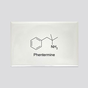 Phentermine Molecule Rectangle Magnet