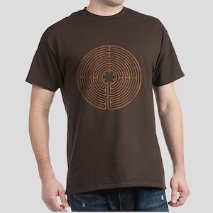 Brown Chartres Labyrinth Dark T-Shirt