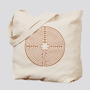 Brown Chartres Labyrinth Tote Bag