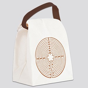 Brown Chartres Labyrinth Canvas Lunch Bag