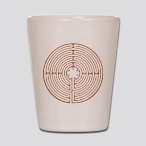 Brown Chartres Labyrinth Shot Glass