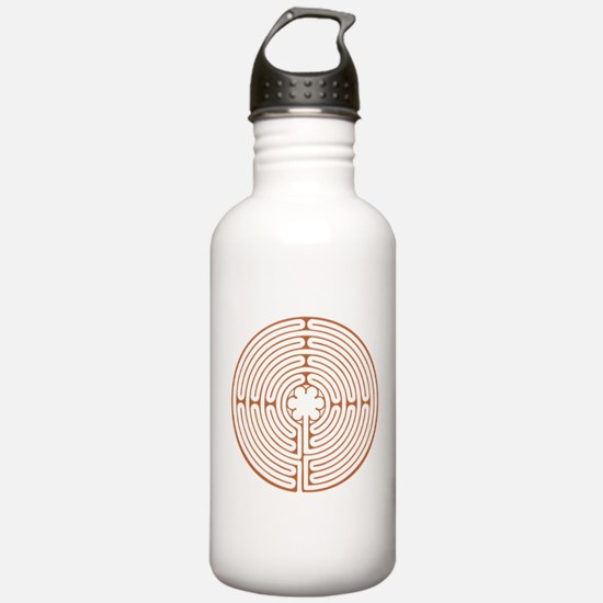 Brown Chartres Labyrin Water Bottle