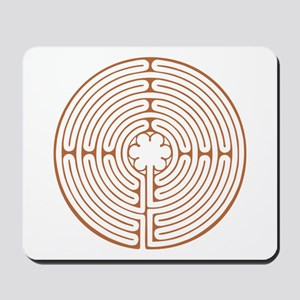 Brown Chartres Labyrinth Mousepad
