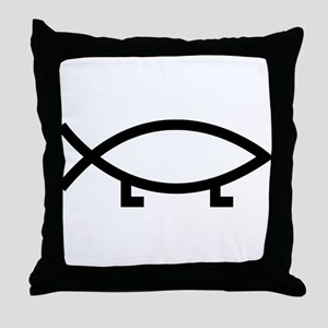 evolution fish Throw Pillow