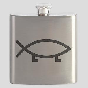 evolution fish Flask