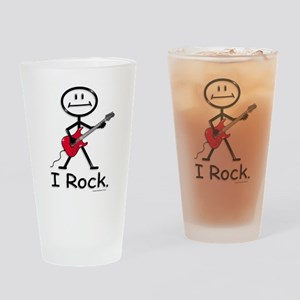 I Rock Stick Figure Drinking Glass