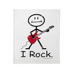 I Rock Stick Figure Throw Blanket