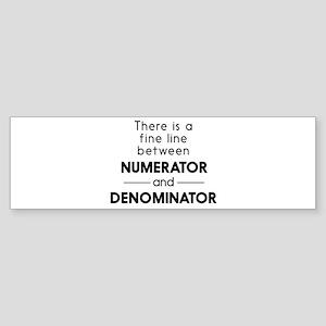 Fine line between numerator and denominator Bumper