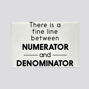 Fine line between numerator and denominator Magnet