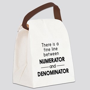 Fine line between numerator and denominator Canvas