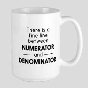 Fine line between numerator and denominator Mugs