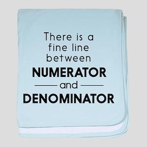 Fine line between numerator and denominator baby b