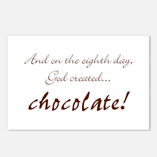 And on the 8th day God created chocolate Postcards