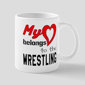 My Heart belongs to the Wrestlin 11 oz Ceramic Mug