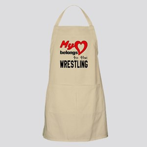 My Heart belongs to the Wrestling Light Apron