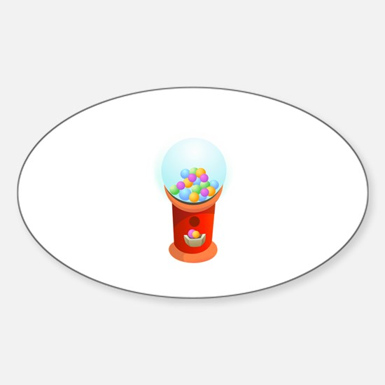 Gumball Machine Chewing Gum Decal