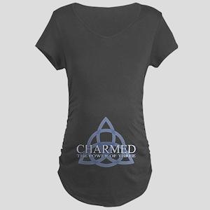 Charmed Trinity Power of Th Maternity Dark T-Shirt