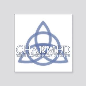 "Charmed Trinity Power of Th Square Sticker 3"" x 3"""