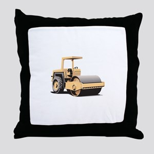 Asphalt Paving Machine Equipment Throw Pillow