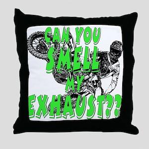 fart exhaust Throw Pillow