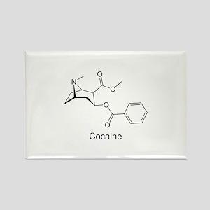 Cocaine - Coke Molecule Rectangle Magnet